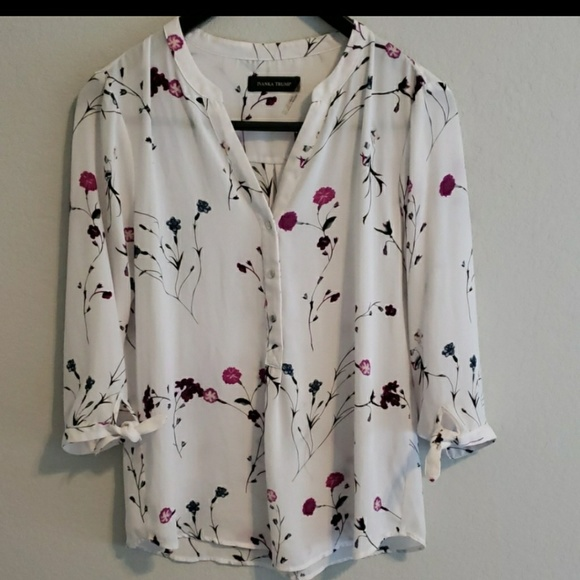 216a7176af39ce Ivanka Trump Tops | Floral Blouse Like New | Poshmark